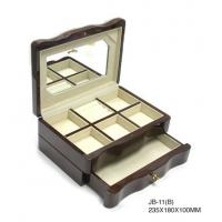 China Antique Wooden Jewellry Boxes two layers with drawers and boxes for Gifts on sale