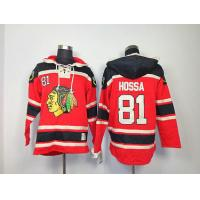 Quality NHL Chicago Blackhawks 81 Marian Hossa Red Hoodies Jersey Old Time Hockey for sale