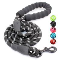 China High Quality Thick Nylon Dog Leash Soft Leather Control Leash Reflective Mountain Climbing Rope for Small Medium Large D wholesale