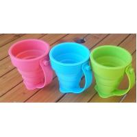 China Coffee Drinking Silicone Drinking Cups Food Grade With Customized Logo 170ml wholesale