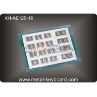 China 16 Keys Stainless Steel Numeric keypad In 4x4 Matrix , Vandal proof wholesale