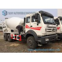 China White Concrete Mixing Transport Truck 8 Cubic Meter North Benz 6X4 Truck on sale