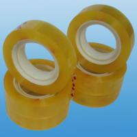 Quality sealing / packaging / bundling BOPP Stationery Tape , super clear cello tapes  for sale