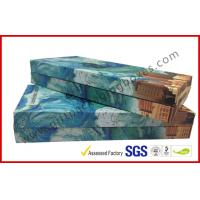 China Rectangle Apparel Packaging Boxes / Cardboard Custom Decorated Boxes For Gifts wholesale