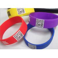 China printed readable QR code customized logo silicone rubber wristbands CE certificates wholesale