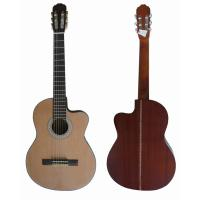 China Red / Brown 39 Inch Sapele Plywood Pruce Classical Guitar 4/4 Cutaway SCG3921C wholesale