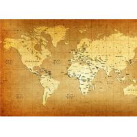 China World Map Interior Decorative Wall Panels For TV Wall  , 5mm 7mm 9mm Thickness wholesale