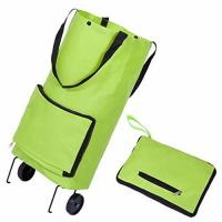 China Large Capacity Tugboat Cart Supermarket Household Portable Tugboat Bag with 2 Wheels Tote Shopping Bag Foldable on sale