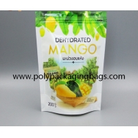 China Custom Compound Stand Up Ziplock Bag For Dried Mango Packing aluminium Foil Bag on sale