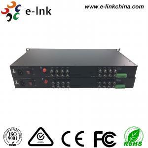 China 16 Channel AHD CVI TVI Over Fiber Converter Single Mode Or Multimode wholesale
