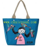 China Female nylon folding shopping bag beach handbags wholesale