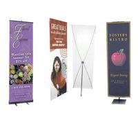 Quality Advertising graphic banner stand Trade Show Display X Banner Stand With PVC for sale