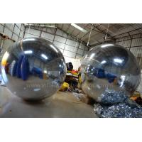 China 2m Silver Inflatable Advertising Balloons , Inflatable Mirror Balloons Decoration wholesale