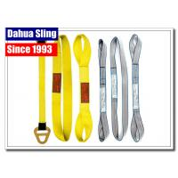 China Customized Logo Harga Webbing Sling , Hoist Lifting Straps Acid Resistance wholesale