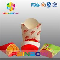 China Folding Paper Box Packaging For French Fries Packaging, Take Away Fast Food Paper Box wholesale