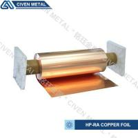China 650mm wide width HP-RA copper foil C11000 with high conductivity in roll ISO9001/SGS wholesale