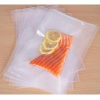 Quality High Transparent Embossed Texture Vacuum Bags for Food Packaging for sale