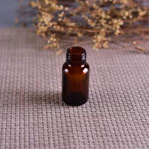 China Old Brockway Glass amber medicine bottle Brown 2 OZ silk screen printing wholesale