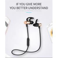 China SLS-100 Bluetooth earphone Stereo Magnetic Music Mic Remote Control Bluetooth Headset for Android IOS for iPhone X wholesale