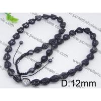 China Hot Selling Black Beaded Shamballa Chain Necklaces For Women 2570003 wholesale
