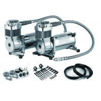 China Silver Steel Dual Packs Air Suspension Pump For Strong Power And Fast Inflation wholesale