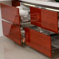 Hotel built in melamine kitchen cabinets with invisible for Build inn kitchen