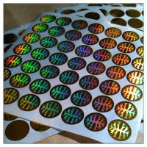 China Custom print Anti-fake authentic adhesive hologram label ,secure genuine hologram sticker label wholesale