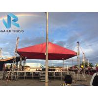 China Triangle Red Canvas Aluminum Roof Truss With Barriers High Loading Capacity on sale