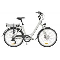 China Womens 26 Inch Electric City Bicycle With Lithium Battery On Rear Rack wholesale