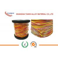China 20 awg 24awg wire 0.5mm Thermocouple wire Type K   L  U  X  With Teflon / Fiber Glass / PVC /  Insulation with high temp wholesale