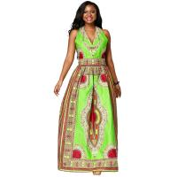 China Ms batiks sleeveless  dress,  African Print Dresses,the waist with elastic wholesale