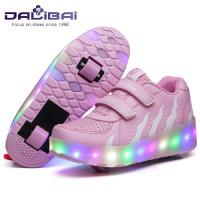 Quality Pink Flashing LED Casual Shoes With USB Charging In 7 Colors Light for sale