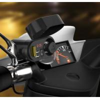 China Rear Mirror Stand Mount 12V-24V 3.1A Waterproof Motorcycle Phone Charger With Clock Dual USB Port Voltmeter Cigarette Li wholesale