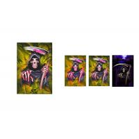 China Custom Horror 12 x 17cm 3d Lenticular Images Happy Halloween Card For Holiday Celebration wholesale
