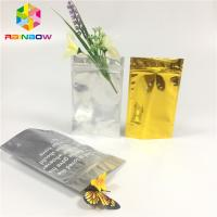 China Clear Front Doypack Foil Pouch Packaging Mylar Zip Lock Bag Cosmetic Sample Sachet wholesale