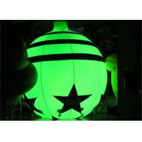 China 10 ft RC RGB LED Inflatable Advertising Balloon Christmas Ornaments Bell Shape wholesale