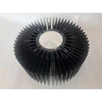 China Custom aluminum CNC machined 230mm big size LED round heat sink extrusions on sale