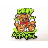China Kids Clothes Cute Embroidery Patches Bear Logo Embroidered Iron On Appliques on sale