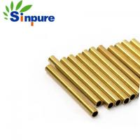 China Smart Electronics Copper Micro Brass Tubing , Precise Hollow Copper Pipe on sale