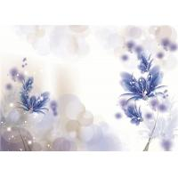 China Artistic Flowers Bamboo Fiber Wall Panels Violet Density 1.23 g / m² Water Proof wholesale