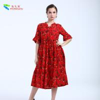 China Soft Half Sleeve Plus Size Cotton Summer Dresses For Pregnant Woman on sale