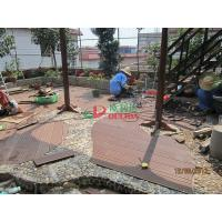 Quality Wood Plastic Composite Decking Flooring , Maintenance Free Decking Natural Wood Texture for sale