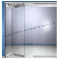 China Aluminium Frame Mobile Walls Sliding Panel Acoustic Movable Wall  Glass Partition wholesale