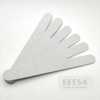 China Private Label Straight Shape 100/180 Grit Top Quality Zebra Grey Nail Files Buffer wholesale