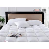 China Square Pattern Health Hotel Mattress Topper With Zipper Stain Resistant 400gsm wholesale