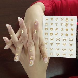 China Metallic nail tattoo, gold nail tattoo sticker on sale