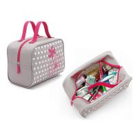 China Custom Makeup Storage Bags With Handles / Women Printed Travel Hand Bags wholesale