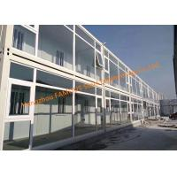 China Foldable Flat Pack Prefab Container House With Glass Facade Decoration For Office Use wholesale