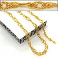 China New Trendy Big Size Chunky Link Chain Women/ Men Necklaces & bangle jewelry set 18K Real G on sale
