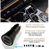 China Dual Usb Car Charger 5V 2.4A Style Quick Charger 3.0 For Mobile Products wholesale